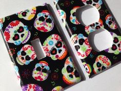 Skull Single Light Switch Plate Cover Day Of The Dead Sugar Home Decor Room Calaveras Candy Kitchen