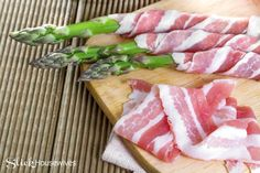 Bacon Grilled Asparagus Recipe  This recipe is somewhat healthy! I like to add this side dish for an easy appetizer or even as a side dish at dinner.
