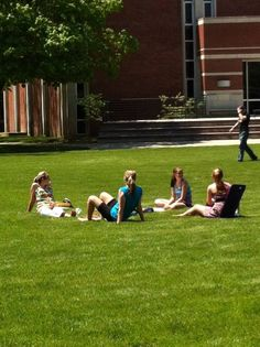 Students relaxing on the mall at Manchester University Acre, Manchester, Indiana, Mall, Students, University, Relax, Beautiful, Mornings