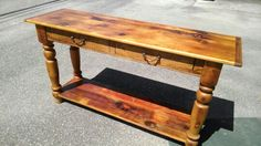 Handcrafted to order console tables From 200 yr old reclaimed pine hand finished in our studio daily
