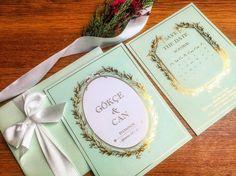 Düğün Davetiyesi - Laduree Mint