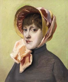 Portrait of a girl by Jacques-Emile Blanche (French 1861-1942)