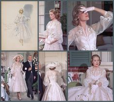 Vintage Costumes High Society: Grace Kelly in a Helen Rose costume Grace Kelly Mode, Grace Kelly Wedding, Grace Kelly Style, Princess Grace Kelly, Grace Kelly Fashion, Vintage Outfits, Vintage Dresses, Nice Dresses, Vintage Fashion
