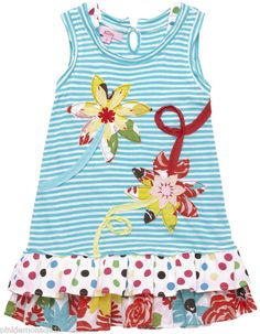 One could use a purchased tank top or tee shirt and add the appliques and ruffles.  So smart and so cute! LJH