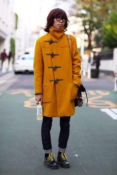 Mustard Coat, Tokyo | Street Fashion | Street Peeper | Global Street Fashion and Street Style