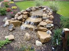 The joy of the pondless waterfall is that it gives the sound and beauty of a waterfall without the many problems associated with the pond.  They're not only easier to maintain than traditional ponds, but the ease of installation makes the pondless waterfall the ideal time and cost effective water feature.