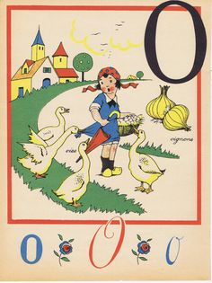 Antique Vintage French Children's Alphabet - Letter O    $8.00
