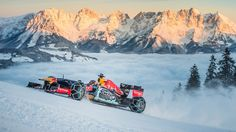Max Verstappen, Kitzbühel Mountain tops for Live 'Snow Run' ahead of July's Austrian Grand Prix. Red Bull Racing, Racing Team, Sport Cars, Race Cars, Austrian Grand Prix, Gp F1, Thing 1, Indy Cars, Rally Car