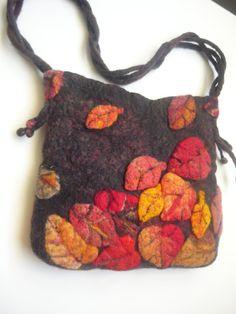 """Felt handbag """"the Autumn collection"""" $46.80"""