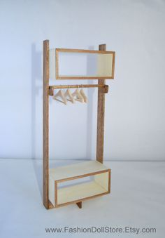 1/ 6 scale doll shelf for Barbie, Blythe, Momoko, Fashion Royalty, etc. in 1/6 scale
