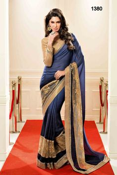 Grey And Off White Pedding Georgette Saree|Saree|Ethnic Wear
