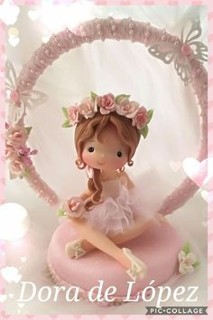 Muñecas en porcelana fria Cute Polymer Clay, Polymer Clay Dolls, Clay Crafts, Arts And Crafts, Teen Girl Crafts, Ballerina Birthday, Clay Mugs, Fondant Decorations, Baby Fairy