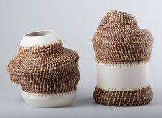 Вазы из хвои и керамики