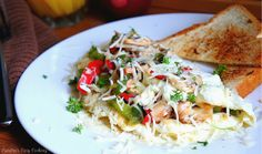 Cheesy Egg White Omelette with Peppers and Mushrooms - -     This recipe is great for breakfast and is extremely satisfying. All those veggies and protein are gonna fill your belly right up!  http://www.sandraseasycooking.com/2011/06/cheesy-egg-white-omelette-with-peppers.html