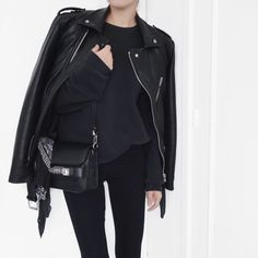 Leather Jacket // Leather Bag