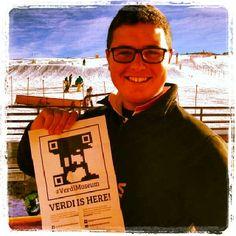 A @fagianidacorsa 's friend has just found #Verdi on the snow! #MadonnadiCampiglio #MdC #FoundVerdi @#VerdiMuseum