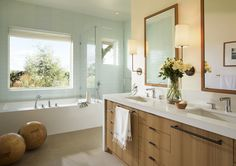 Bathroom  Family Home in Napa  Bath  Architectural Detail  Architectural Details  Farmhouse  Modern by Wade Design Architects