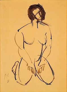 Fernand Léger, FEMME AGENOUILLEE