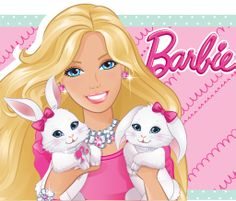 Click through to download cute Barbie Easter coloring printables!