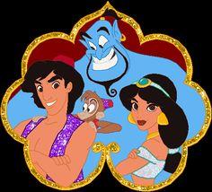 DISNEY GIF Walt Disney Princesses, Disney Couples, Princess Disney, Princess Party, Disney Characters, Template Free, Gifs Lindos, Aladdin Party, Gato Animal