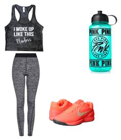 """Cute workout outfit"" by fungiral on Polyvore featuring Topshop, NIKE and Victoria's Secret PINK"