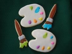 cookies for a paint your own pottery party