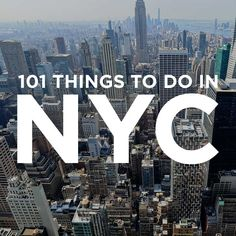 Check out our 101 Things to Do in NYC - from the touristy spots everyone has to do at least once to the spots a little more off the beaten path.
