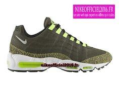 Nike Air Max 95 Premium Tape Newsprint/Gris poussiéreux/Noir/Volt 599425-001 - Nike Running Chaussure Pas Cher Pour Homme - un site web qui expert en offres spéciales!