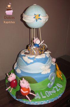 Torta Peppa Pig #TortaPeppaPig #TortasDecoradas #DulcesKaprichos