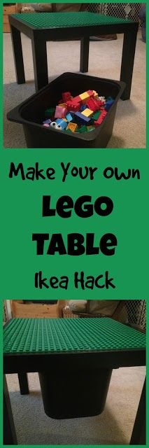 How to Build a Lego Table from an Ikea Lack Table