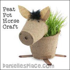 Digital by Design, Inc. - See Copyright Information Peat Pot Horse Planter Craft for Children Horse Peat Pot Craft for Horse Camp Vbs Crafts, Camping Crafts, Camping Snacks, Camping Theme, Camping Ideas, Cowboy Crafts, Western Crafts, Art For Kids, Crafts For Kids