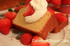 CakeBoss recipe for scratch, old-fashioned style pound cake.