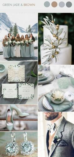 elegant green jade and brown winter wedding colors - . elegant green jade and brown winter wedding colors – Trendy Wedding, Perfect Wedding, Rustic Wedding, Dream Wedding, Wedding Day, Wedding Unique, Cozy Wedding, Budget Wedding, Party Wedding