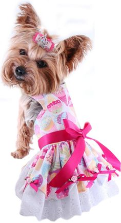 Dog Harness Dress- Small Dog Clothes