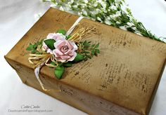 Daydreams In Paper: Transforming An Old Shoe Box Into A Beautiful Gift Box - Tammy Tutterow Designs