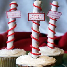 Use our Santa's Workshop Pops as a decoration on a cupcake, as edible seat assignments or as a tasty holiday treat for kids and adults alike!