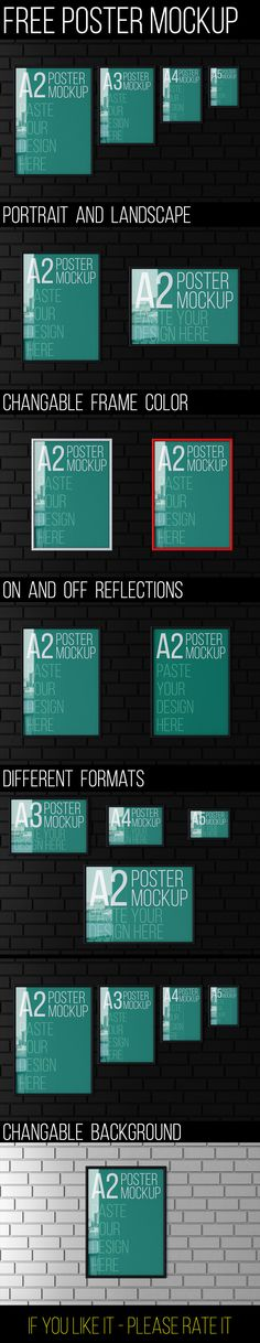 Free Poster Mockup, #A4, #Display, #Free, #Graphic #Design, #MockUp, #Poster, #Presentation, #PSD, #Resource, #Showcase, #Template