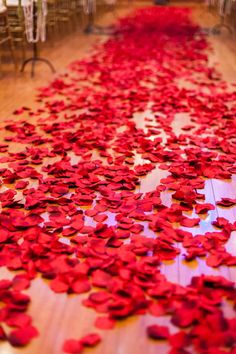 Wedding Aisles With Rose Petals