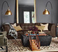 Ken Fulk Leather 3-Piece Sofa Sectional #potterybarn