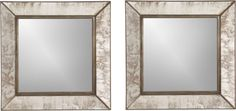 Sale ends soon. Shop Dubois Small Square Wall Mirrors, Set of Inspired by a vintage picture frame spied in a San Miguel de Allende boutique, these small rustic mirrors are loaded with character and an antiqued appeal. Wall Mirrors Entryway, Small Wall Mirrors, Rustic Wall Mirrors, Round Wall Mirror, Mirror Set, Decorative Mirrors, Frame Mirrors, Square Mirrors, Mirror Vanity