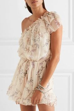 Curacao one-shoulder playsuit