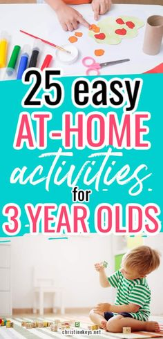 20 At Home Activities for 3 Year Olds You Need to Check Out