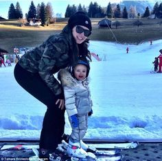 Family first! Tamara Ecclestone and her husband Jay Rutland took to social media on Friday to document their cute daughter Sophia's first attempt at skiing Ski Switzerland, Family First, Skiing, Winter Jackets, Husband, Daughter, Jay, Cute, Instagram Posts