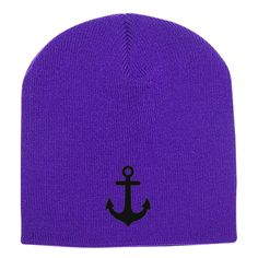 Anchor Embroidered Knit Beanie
