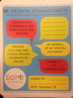 Digital Citizenship Pledge for when your kid is old enough to have be on social media