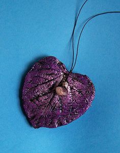 Purple Heart with Amethyst Stone/Art/Home by Medusa13 on Etsy, $24.00