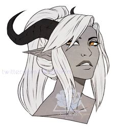 gray skinned white h Dungeons And Dragons Characters, Dnd Characters, Fantasy Characters, Female Characters, Female Character Design, Character Design Inspiration, Character Art, Female Demons, Dnd Art