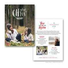 Year In Review Holiday Card Template for by FOTOVELLA on Etsy