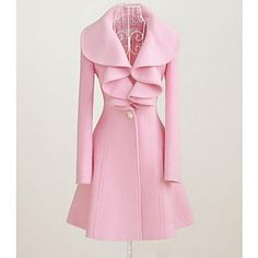 Women's+Going+out+Vintage+Dress+Long+Sleeve+Pink+Black+Winter+–+CAD+$+34.74