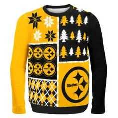 Pittsburgh Steelers Busy Block Ugly Sweater - Official Online Store
